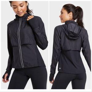 NEW All in Motion Black Jacket Windbreaker Coat L